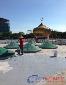 Masjid At-Taqwa Miri, Malaysia. Waterproofing Purpose